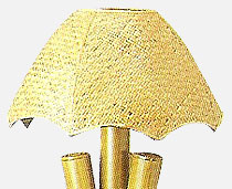 View Fiji Lamps Wide Natural Cane