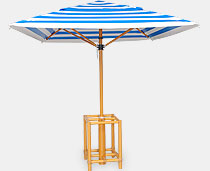 View Umbrella Structure - 4 Sticks With Ferarri Fabric