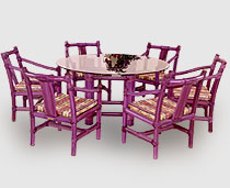 View Dining Set - Cocos Chairs with Arms