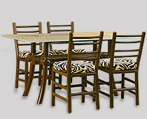 View Dining Furniture - Tacuba Chairs, Around a Troy Glass Top Table