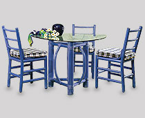 View Dining Furniture - Tacuba Chairs, Around a Cocos 3 Legged Rectangle Table