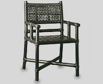 View Marine Chair Black Color with arms & tie-ups