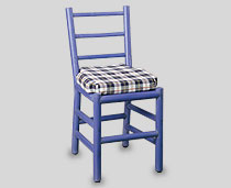 View Tacuba Chair Blue Color with pipes on back & cushion
