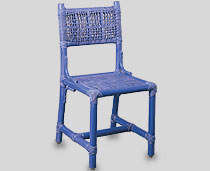 View Marine Chair Blue Color without arms & with tie-ups