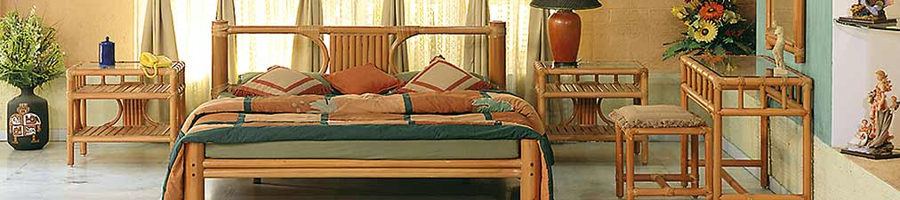 Cocos Double Bed Set Natural View With Side Tables
