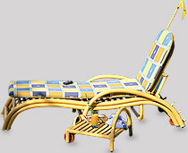 View Safari Loungers With Pull Away Table & Cushion